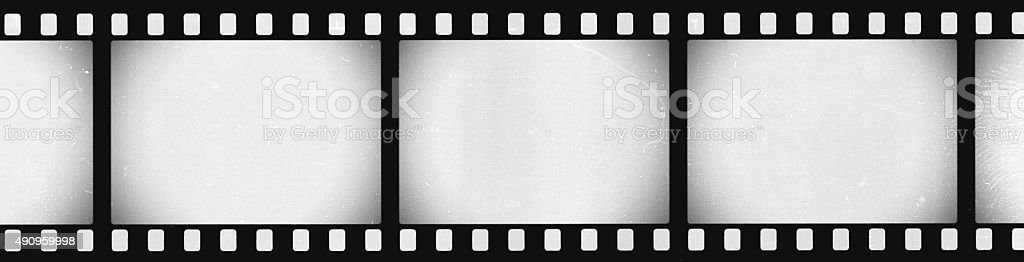 Panoramic Grunge Film Strip Negative Background stock photo