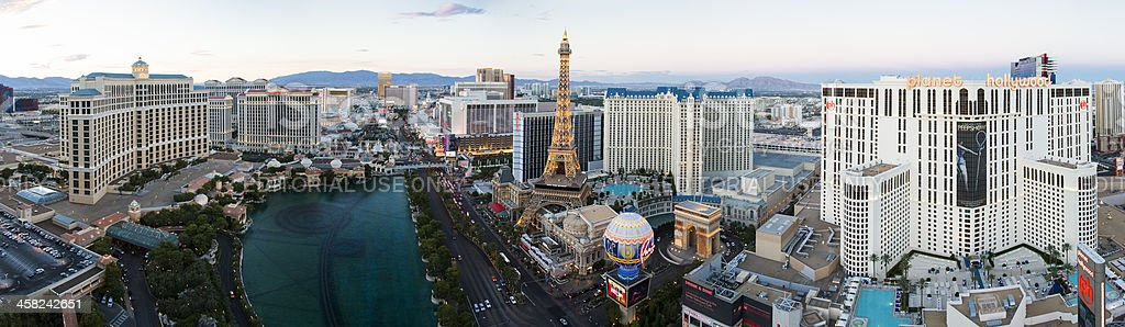 Panoramic high angle view of Las Vegas Strip royalty-free stock photo