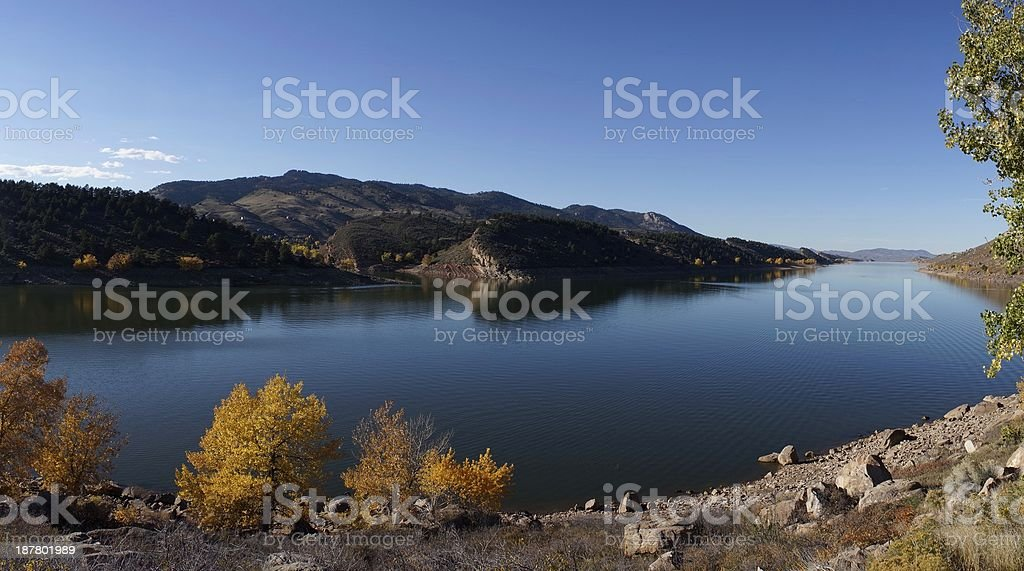 Panoramic, Horsetooth Reservoir, Fort Collins stock photo