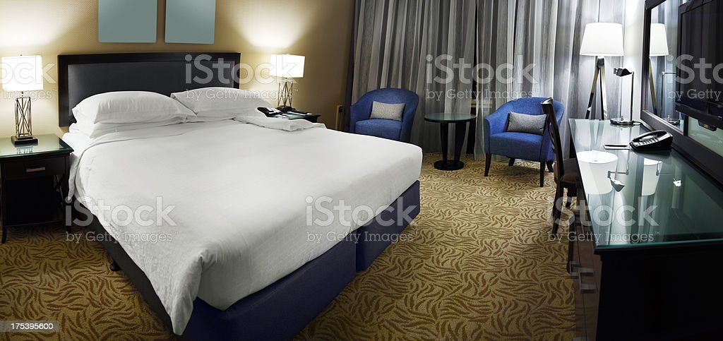 Panoramic Hotel room royalty-free stock photo