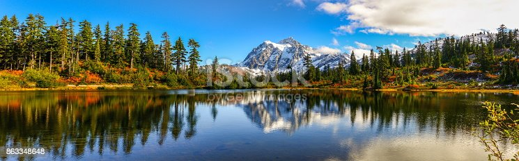 Panoramic Image of Mt. Shuksan, WA