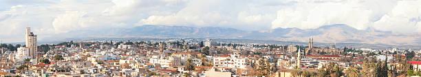 panorama bild von nikosia city - edirne stock-fotos und bilder