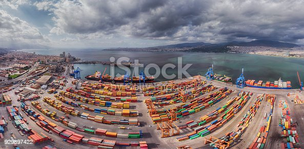 istock Panoramic Image of Port and Gulf of Izmir 929897422