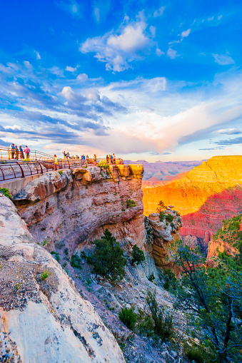 The Grand Canyon is a steep-sided canyon carved by the Colorado River in Arizona, United States.