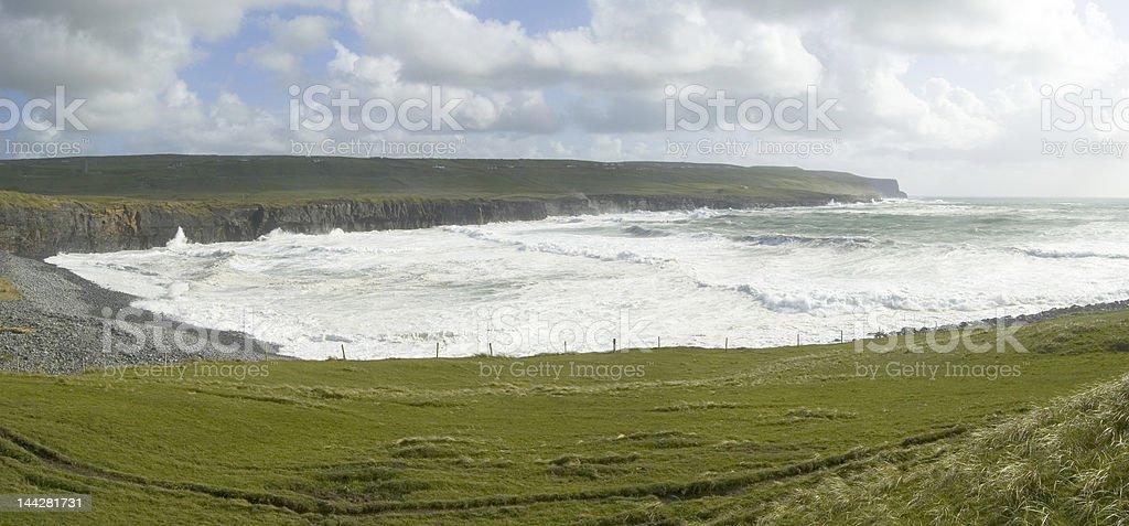 Panoramic in Doolin royalty-free stock photo