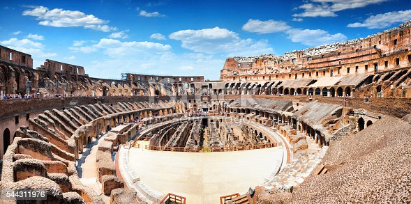 istock Panoramic Interior of The Colosseum in Rome, Italy 544311976