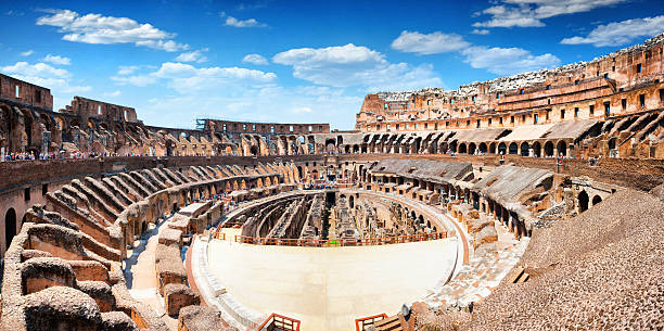 Panoramic Interior of The Colosseum in Rome, Italy – Foto
