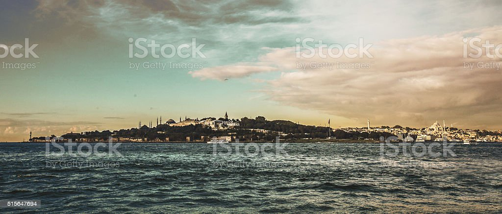 panoramic istanbul city stock photo