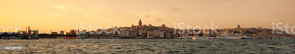 Panoramic Istanbul stock photo
