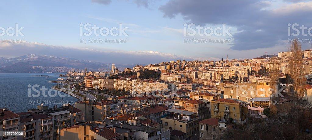 panoramic izmir stock photo