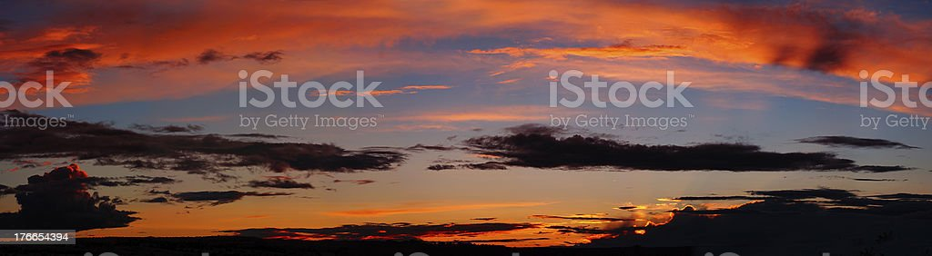 Panoramic landscape : Cloudy sunset at Quebec royalty-free stock photo