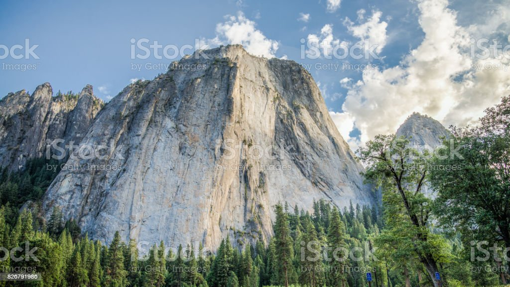 Panoramic landscape from Yosemite National Park stock photo