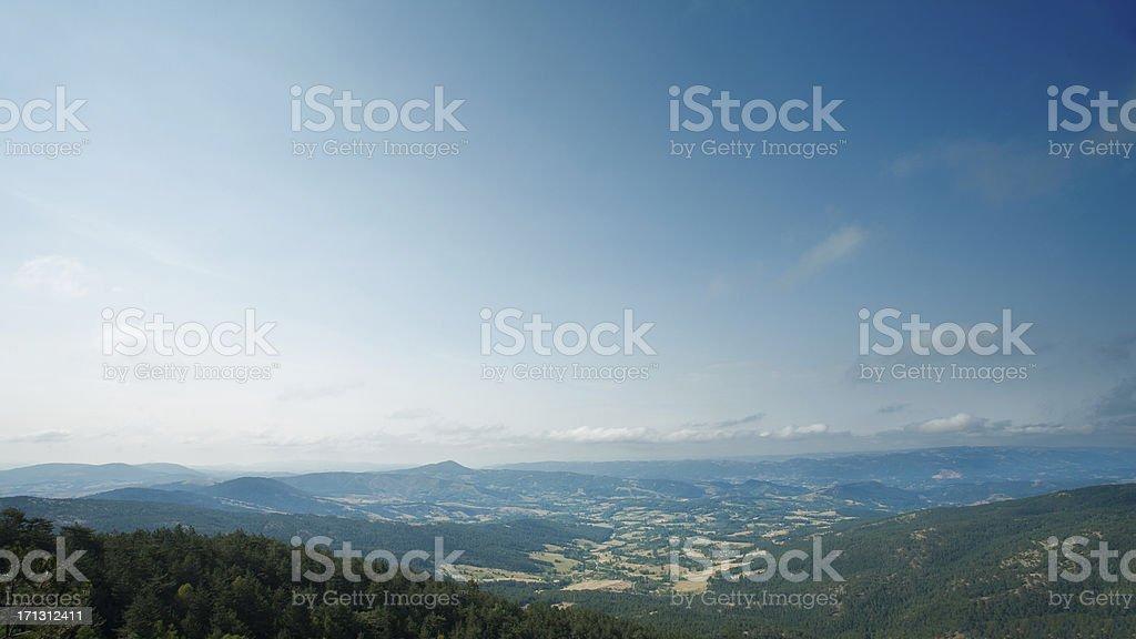 Panoramic landscape stock photo