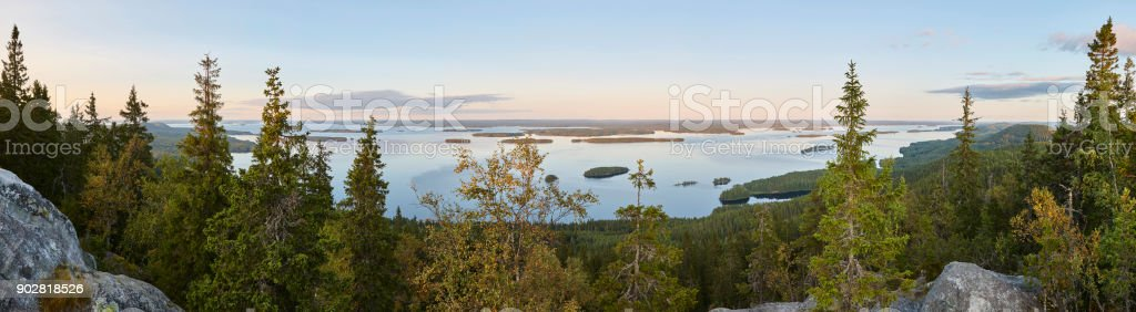 Panorama-Ansicht. Koli Nationalpark. Pielinen Bereich. Finnland – Foto