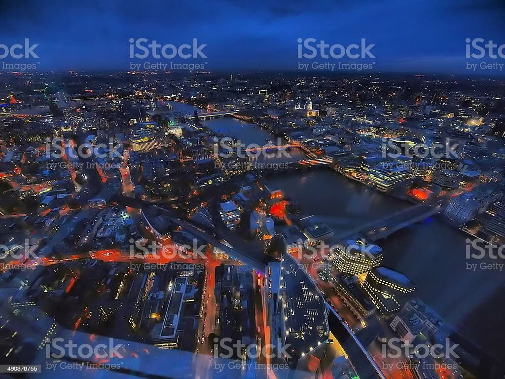 Panoramic London stock photo