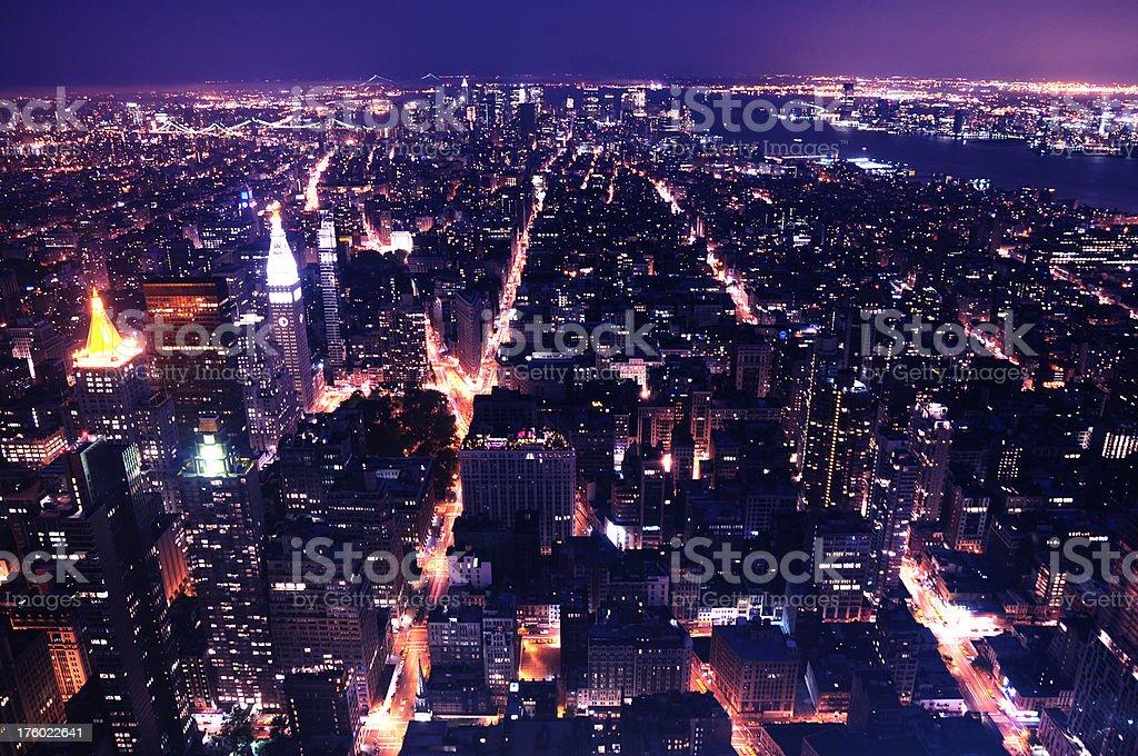 Panoramic Manhattan Skyline royalty-free stock photo