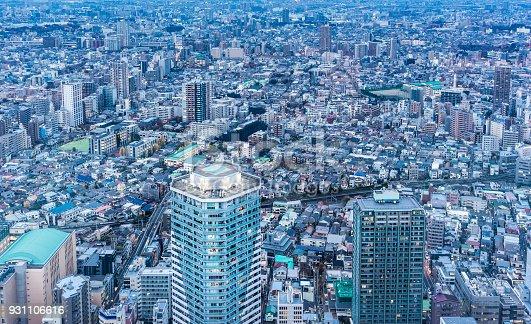931105838 istock photo panoramic modern city skyline aerial night view of Ikebukuro and expressway in tokyo, Japan 931106616