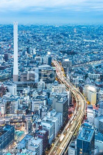931105838 istock photo panoramic modern city skyline aerial night view of Ikebukuro and expressway in tokyo, Japan 931106774