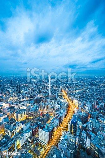 931105838 istock photo panoramic modern city skyline aerial night view of Ikebukuro and expressway in tokyo, Japan 931106970