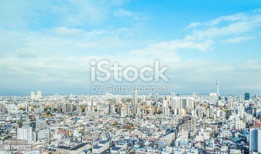 931105838 istock photo panoramic modern city skyline aerial view of bunkyo, tokyo, Japan 937983322
