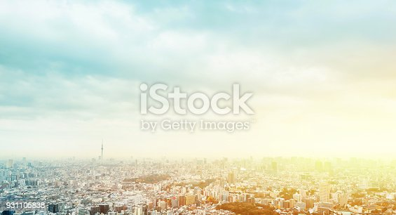 Asia business concept for real estate and corporate construction - panoramic modern city skyline aerial view of Ikebukuro in tokyo, Japan