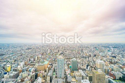 931105838 istock photo panoramic modern city skyline aerial view of Ikebukuro in tokyo, Japan 931105944