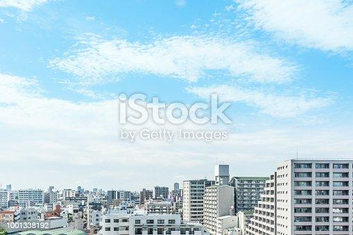 1001353450 istock photo panoramic modern city urban skyline bird eye aerial view under sun & blue sky in Tokyo, Japan 1001338192