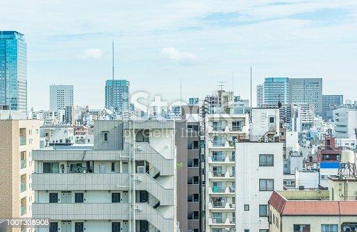 1001353450 istock photo panoramic modern city urban skyline bird eye aerial view under sun & blue sky in Tokyo, Japan 1001338908