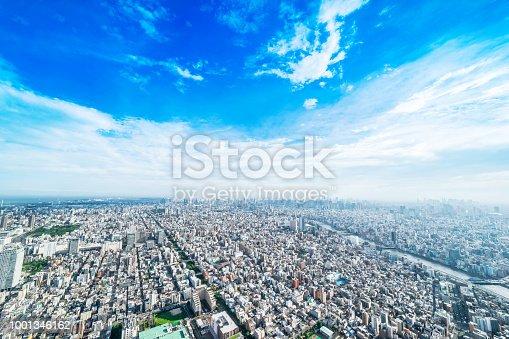 1001353450 istock photo panoramic modern city urban skyline bird eye aerial view under sun & blue sky in Tokyo, Japan 1001346162