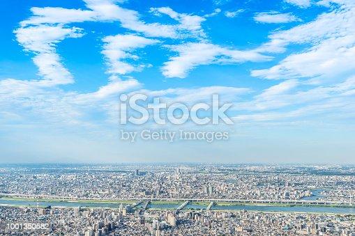 1001353450 istock photo panoramic modern city urban skyline bird eye aerial view under sun & blue sky in Tokyo, Japan 1001350582