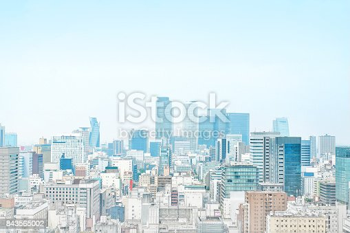 istock panoramic modern cityscape building bird eye aerial view in Nagoya, Japan mix hand drawn sketch illustration 843565002