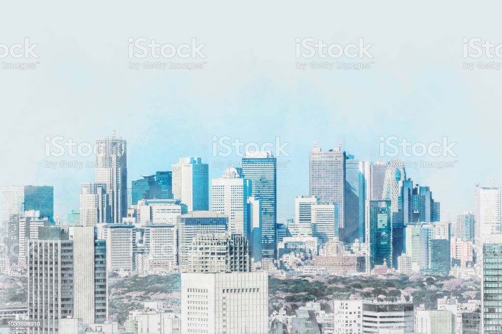 Asia Business concept for real estate and corporate construction -...