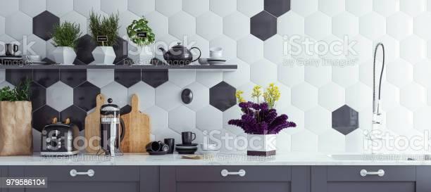 Panoramic modern kitchen interior background picture id979586104?b=1&k=6&m=979586104&s=612x612&h=q dm6smzm1a2v5rck9g8ehypjjan9q9rnp hoi36bmu=