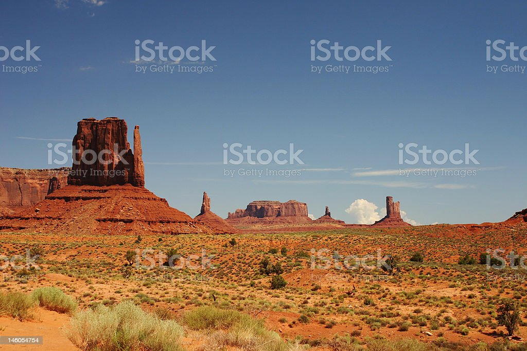 Panoramic Monument valley royalty-free stock photo