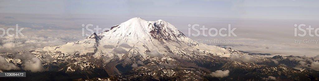 Panoramic Mount Rainier, WA stock photo
