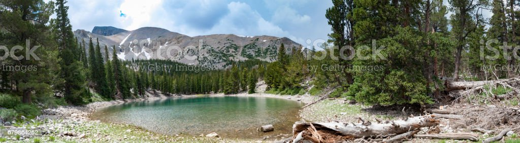 Panoramic mountain lake, Great Basin National Park, Nevada stock photo