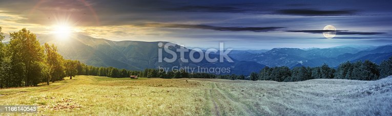 1074120624 istock photo panoramic mountain landscape time change 1166140543