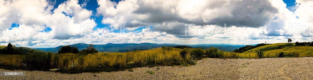 Panoramic Mountain Overlook stock photo