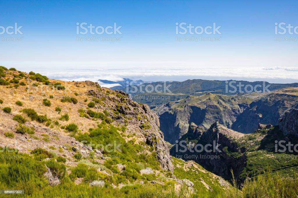 panoramic mountain view zbiór zdjęć royalty-free