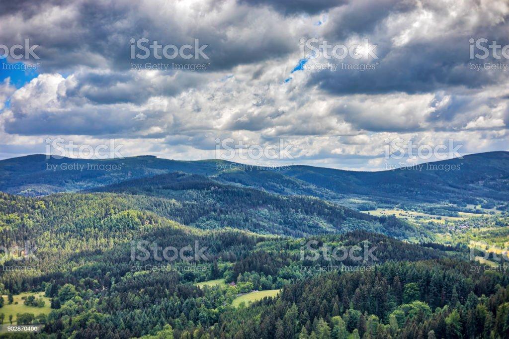 panoramic mountain view (HDRi) zbiór zdjęć royalty-free