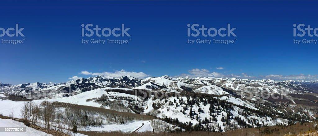 Panoramic Mountains stock photo