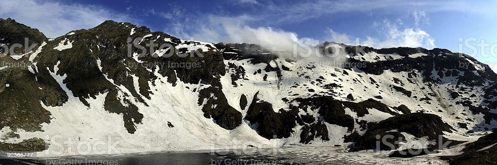 Panoramic mountains royalty-free stock photo