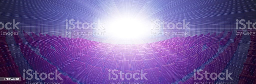panoramic movie theater, XXXL royalty-free stock photo