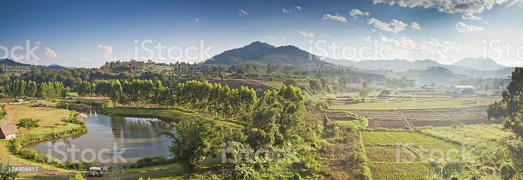 Panoramic North Thailand Landscape royalty-free stock photo