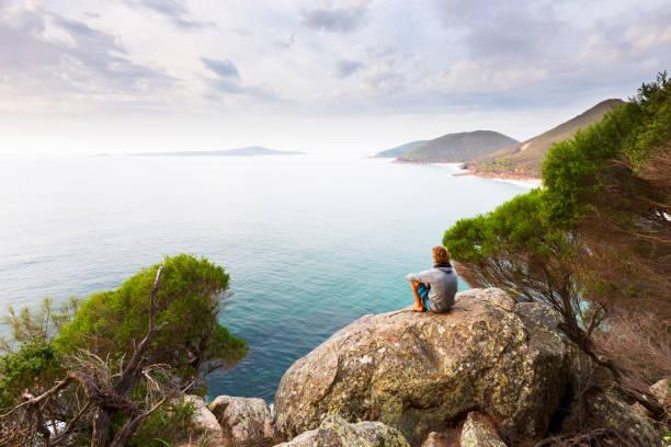 Panoramic Ocean View stock photo