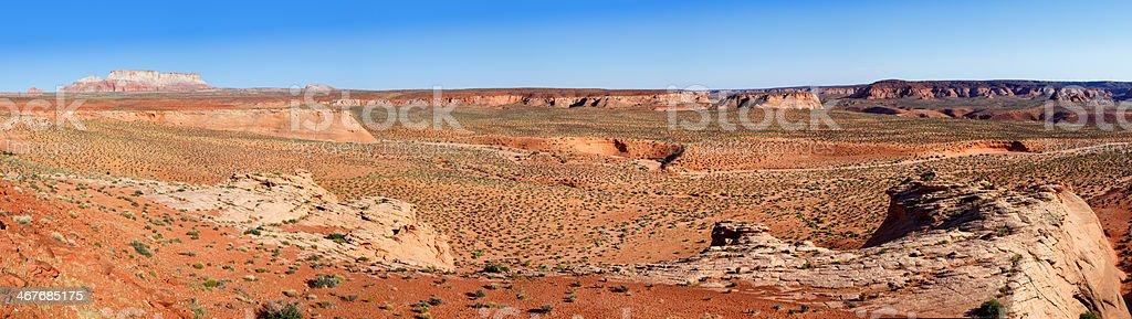 Panoramic of Antelope Canyon Navajo Tribal Park stock photo