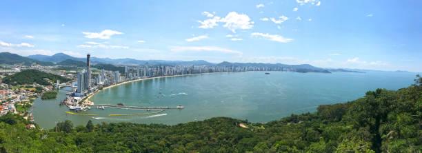 Panoramic of Balneario de Camboriu stock photo