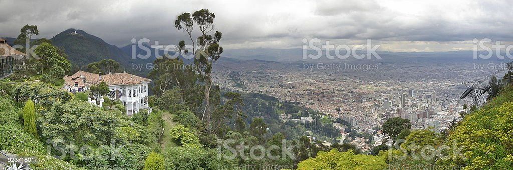 Panoramic of Bogota royalty-free stock photo