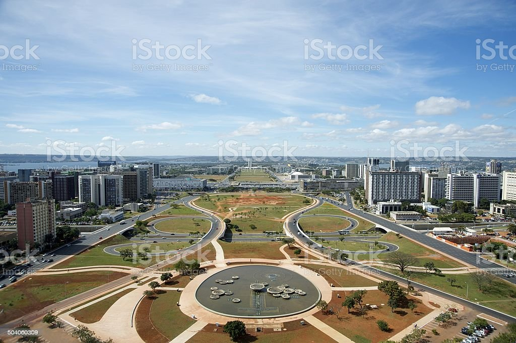 Panoramic of Brasilia, Brazil stock photo