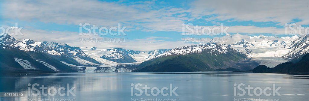 Panoramic of College Fiord stock photo